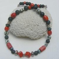 Ketting, koraal, lava, natuursteen